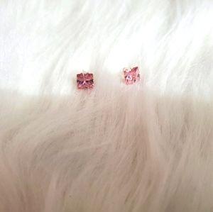 CZ Pink Earrings